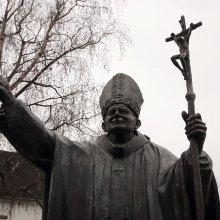 II. János Pál pápa szobor Miskolc